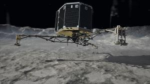 An artist view of the Philae lander.