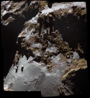 A color image of 67P's surface.