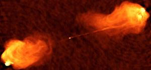 Radio image of jets ejected from Cygnus A.