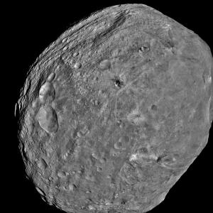 Vesta as seen by the Dawn probe.