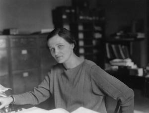 Cecilia Payne at work.