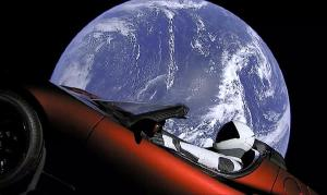 It's hard to believe this is an actual image of a car in space.