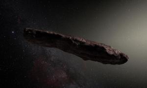 Artist's impression of the interstellar object.