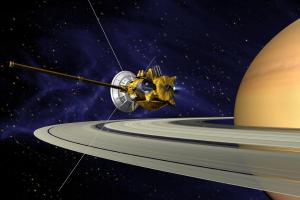 Artist view of the Cassini spacecraft.