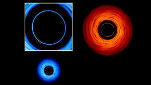 Each accretion disk holds a reflection of the other.