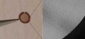 A 3mm-wide light sail made of graphene.