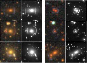 Examples of lensed galaxies discovered by DECaLS, and confirmed by Hubble.