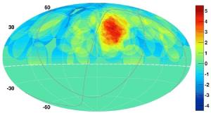 Significance map of cosmic gamma rays.