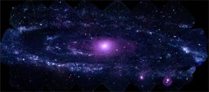 An ultraviolet portrait of the Andromeda Galaxy.