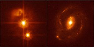 Two Hubble images of quasars.