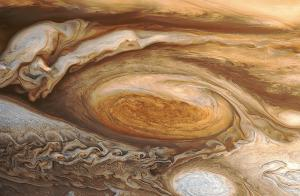 Close up of Jupiter's Great Red Spot.
