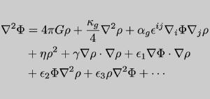 A modified equation of gravity.
