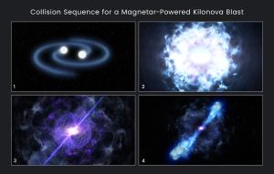 How a magnetar could account for the bright kilonova.