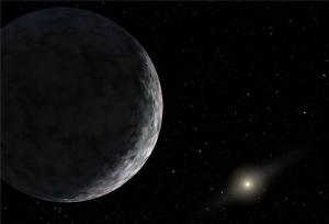 Artist concept of a distant world.