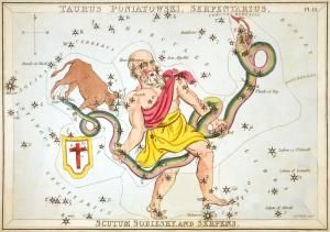 A constellation from Urania's Mirror by Sidney Hall.