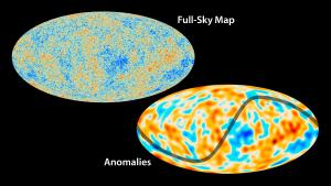 Anomalies in the cosmic microwave background.