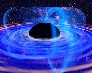 An artist concept of a black hole.
