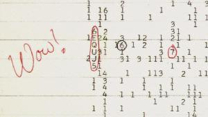 Printout of the Wow! signal.